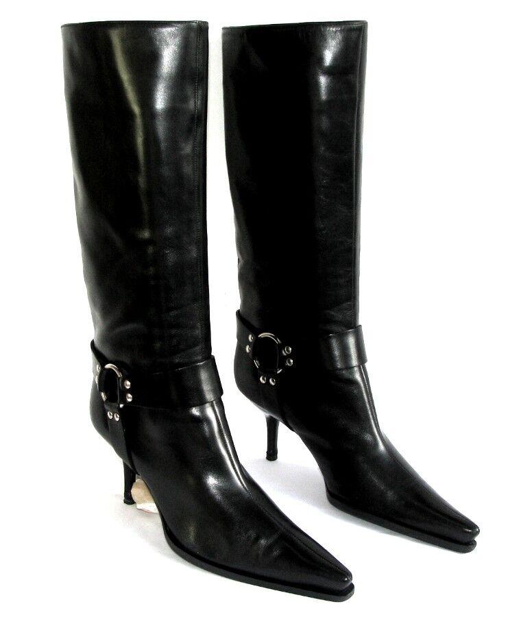 SERGIO ROSSI botas talons 7 cm cm cm tout cuir negro 38 ITL    EXCELLENT ETAT  hasta un 50% de descuento