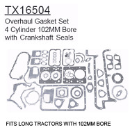 Tx16504 Fiat Long Tractor Parts Overhaul Gasket Set - 4 Cylinder Long Tractors W