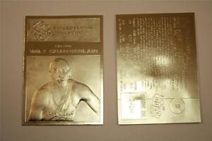 WILT-CHAMBERLAIN-1961-62-Fleer-ROOKIE-23KT-Gold-Card-Sculptured-NM-MT-5-000