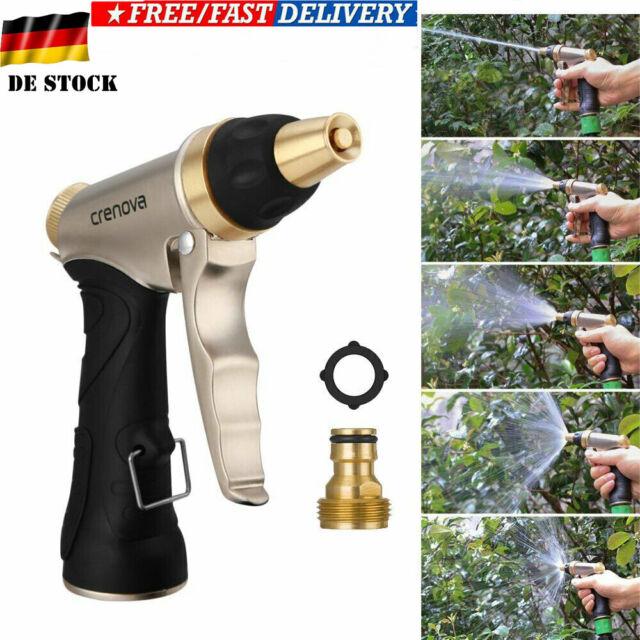 Wasserpistole Spritze Spritzpistole Metall Garten Auto Brause Messing Garden DE