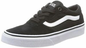 New-Vans-Milton-Low-Top-Sneakers-Suede-Canvas-Black-White-UK-Size-10