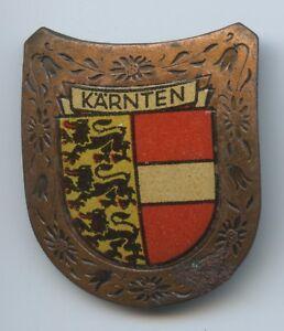 """Trachten & Accessoires Altes Abzeichen """"kärnten Wappen"""" Brosche Anstecker Coloriert Volkskunst Gastfreundlich A469"""