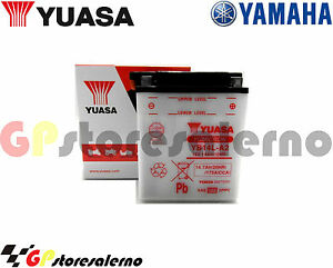 BATTERIA-YUASA-YB14L-A2-YAMAHA-750-XJ-R-Seca-1982