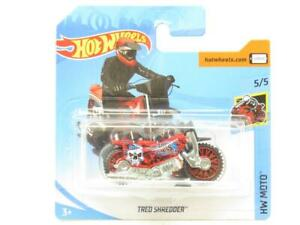 Hotwheels-Tred-Shredder-Hw-Moto-Rojo-Tarjeta-Corta-38-250-1-escala-64-Nuevo-Sellado