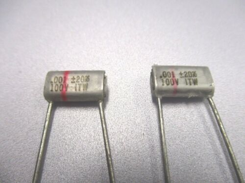 P511 QTY 20 ea NOS, New Old Stock .001 uF 100 Volt  Polystyrene Capacitor
