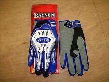RAYVEN SUPRA MOTORCYCLE GLOVES XL BLACK/GREY/BLUE NEW & BOXED