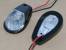 Flush Mount Motorcycle Turn Signals Blinker Light For Universal Sportbikes Clear
