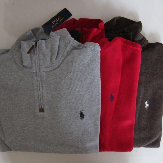 French Men's Lauren Rib Zip Pullover Half Sweater Ralph Polo hsQdtr