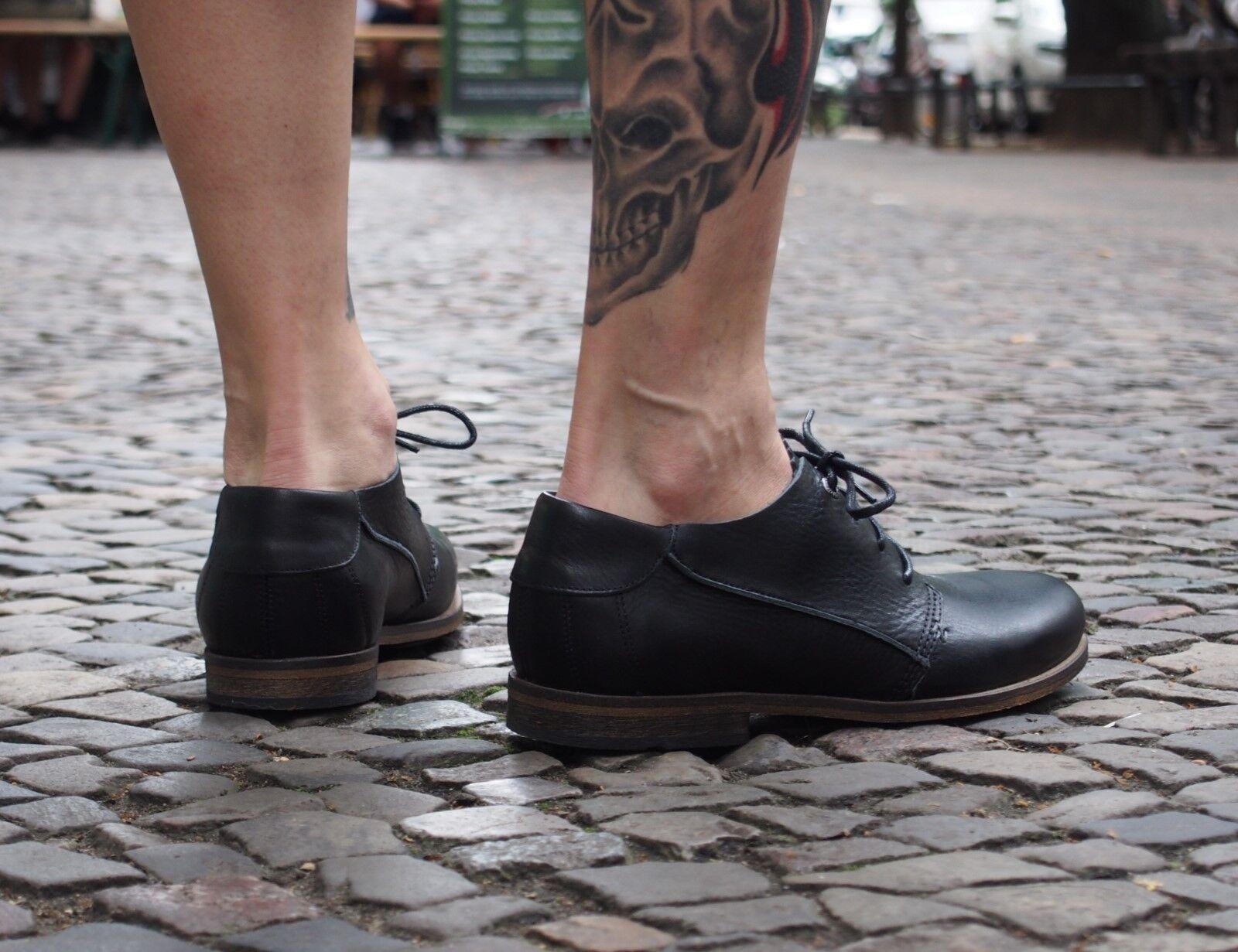 HUB Footwear Footwear Footwear Herrenschuhe Mattfield Black schwarz Echtleder Halbschuhe NEU SALE a1f738