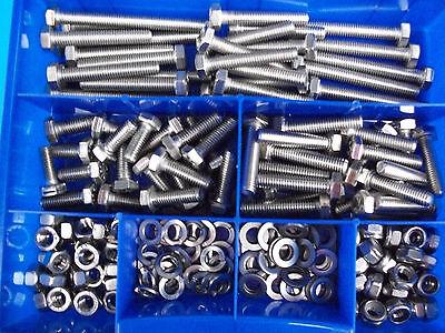 Sechskantschrauben DIN 933 Edelstahl V2A M5  420 Teile Sortiment