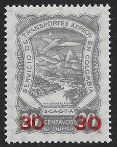 Colombia stamps 1923 YV Airmail 56 MLH VF