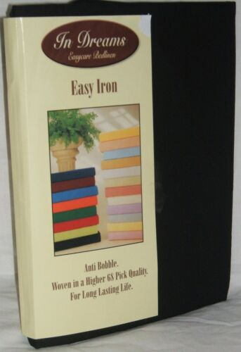 "8 Colours New 10/"" Deep  4FT 3//4 Bed Fitted Sheet With 2 Free Pillowcases"