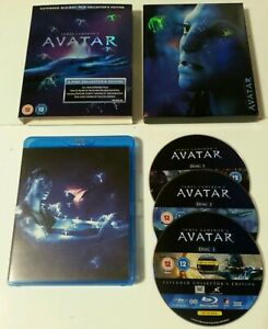 BLU-RAY-Avatar-Extended-Blu-Ray-Collector-039-s-Edition-3-Disc-2010-James-Cameron