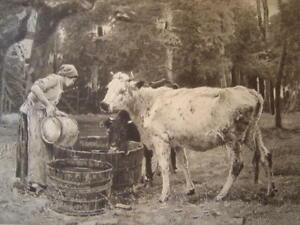 Print-Gravure-034-in-the-Enclosed-034-after-Dupre-Gravee-Redriguez-1880-Cows