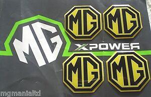 MGZT-MG-ZT-MGZT-T-Alloy-wheel-centre-badge-inserts-4-off-Yellow-mgmanialtd-com
