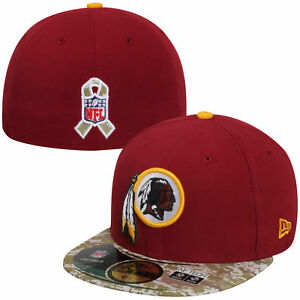 Washington Redskins New Era 59FIFTY NFL Salute to Service Hat Cap ... 8b6d9b305