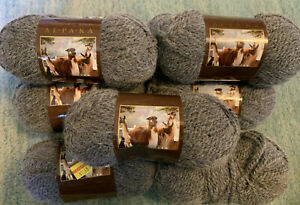 9-Lion-Brand-Touch-Of-Alpaca-Yarn-1-75-ounce-Skeins-Oxford-Grey-Same-Lot
