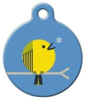Little Yellow Bird - Custom Personalized Pet Id Tag For Dog And Cat Collars