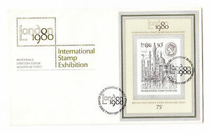Grossbritannien-FDC-Ersttagsbrief-1980-Briefmarkenausstellung-London-Mi-Nr-Block3