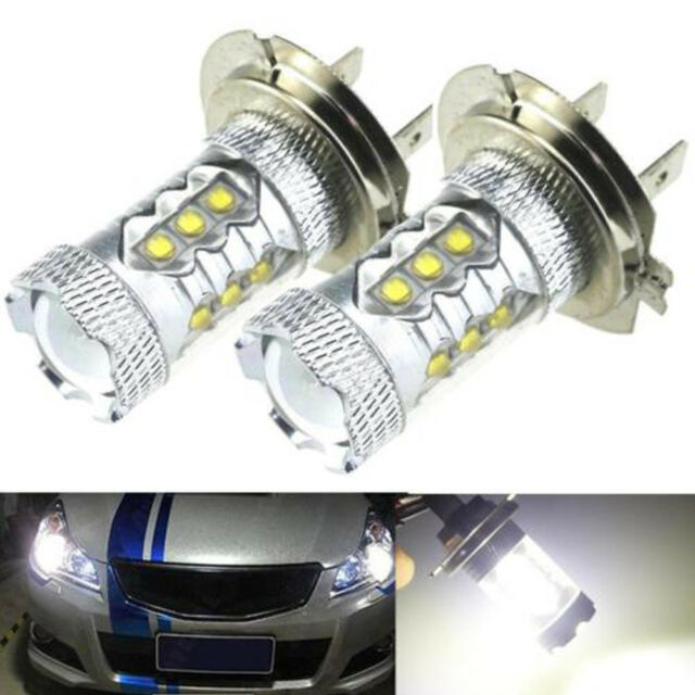 2x H7 80W 6000K 12V 2828 LED Fog Tail Driving Car Light Lamp Bulb Practical New