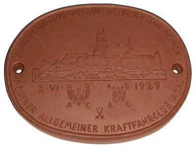 Meissen Plakette 1929 Strahlenfahrt Nach Meissen Adac Ein BrüLlender Handel