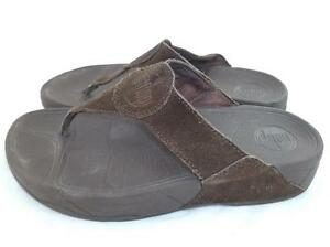 20ce1a68bf3b FITFLOP FIT FLOPS WOMEN S 7 USED WEAR BROWN SUEDE LEATHER COMFORT ...