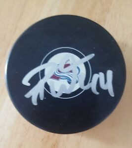 RYAN-WILSON-Signed-PUCK-COLORADO-AVALANCHE-AUTOGRAPH-AUTO