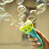 Hand Held Bubble Blower Gun Baby Kids Outdoor Toy Game Water Fun Play
