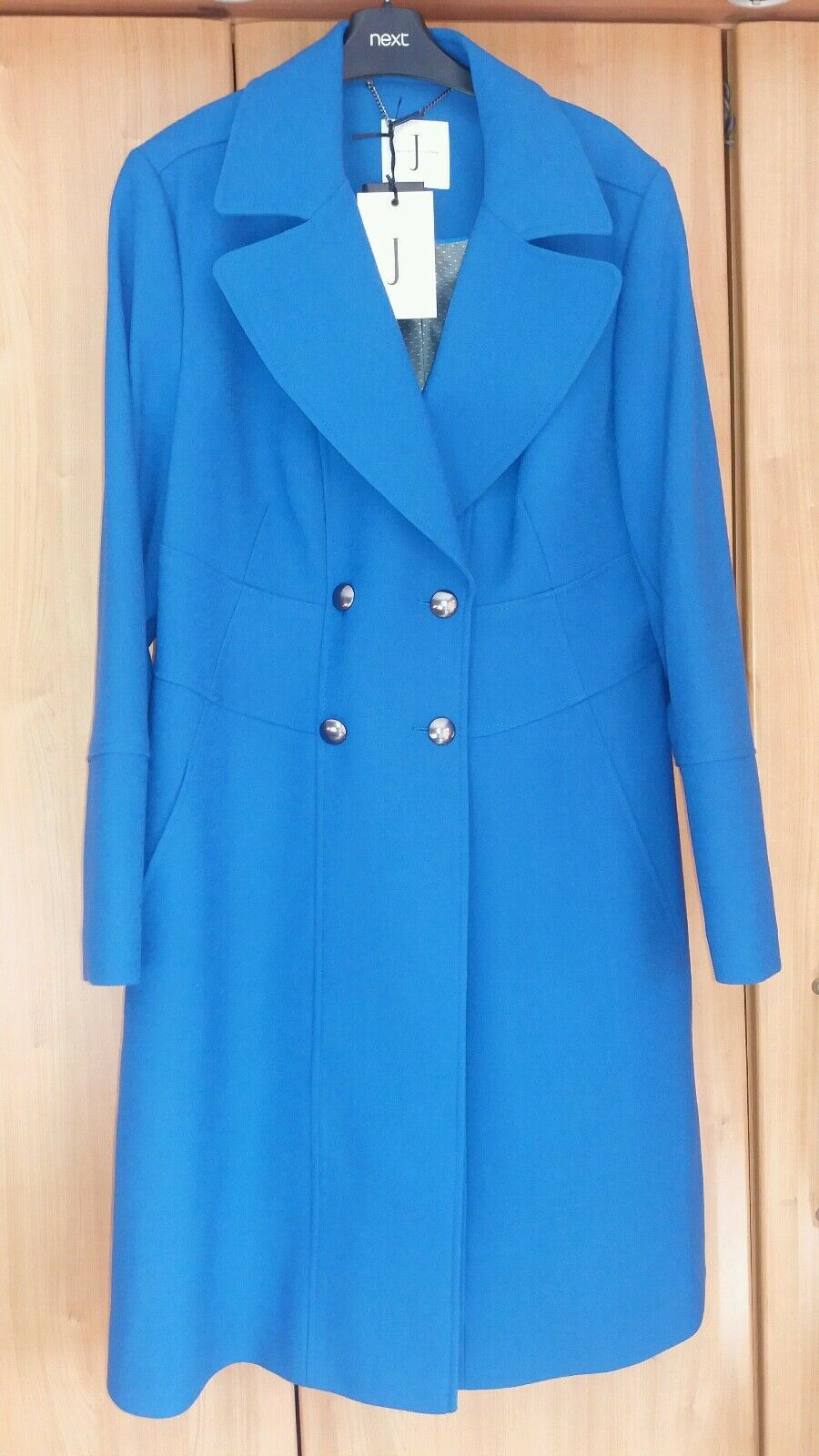 L@@K SIZE 18 JASPER CONRAN @ DEBENHAMS NWT STUNNING ROYAL blueE WINTER COAT