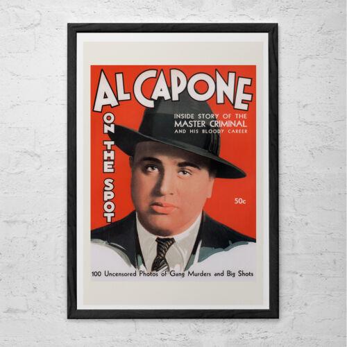 AL CAPONE Poster Art 1940/'s Retro Kitsch Art Detective Magazine Poster Print
