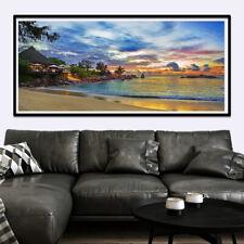 Huge large Big Banner Thin Canvas Art Wall Custom Poster Scenery Sunset Beach
