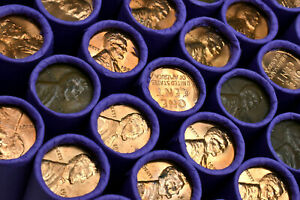 RARE-Uncirculated-BU-Penny-On-Lincoln-Wheat-Cent-Roll-PDS-PENNIES-MIXED-DATES