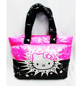 b7f5aa150017 Image is loading Sanrio-Hello-Kitty-Quilt-Puff-Tote-Hello-Kitty-