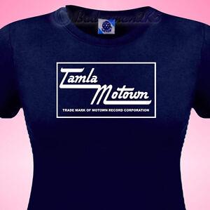TAMLA-MOTOWN-Northern-Soul-Music-Ladies-T-SHIRT-All-Nighters-amp-Retro-SKA