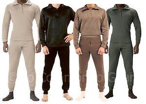 Extreme Cold Weather Long John Underwear W/ Zipper Collar - Super ...
