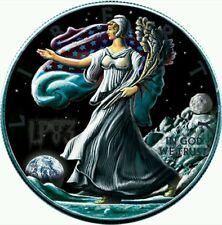 2016  Ounce of Space Walking Liberty Eagle on Moon 1 oz silver w/moon Meteorite.