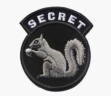 TOP SECRET SQUIRREL BLACK OPS ARMY CIA DEVGRU DELTA SF Embroider Hook/Lp PATCH