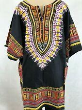 Bella Moda Women Plus Size 1x 2x 3x Dashiki Black Fuchsia Tunic Top Blouse Shirt
