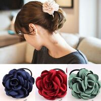 Womens Girls Flower Hair Bands Elastic Ponytail Ring Rope Tie Hairband Bobbles