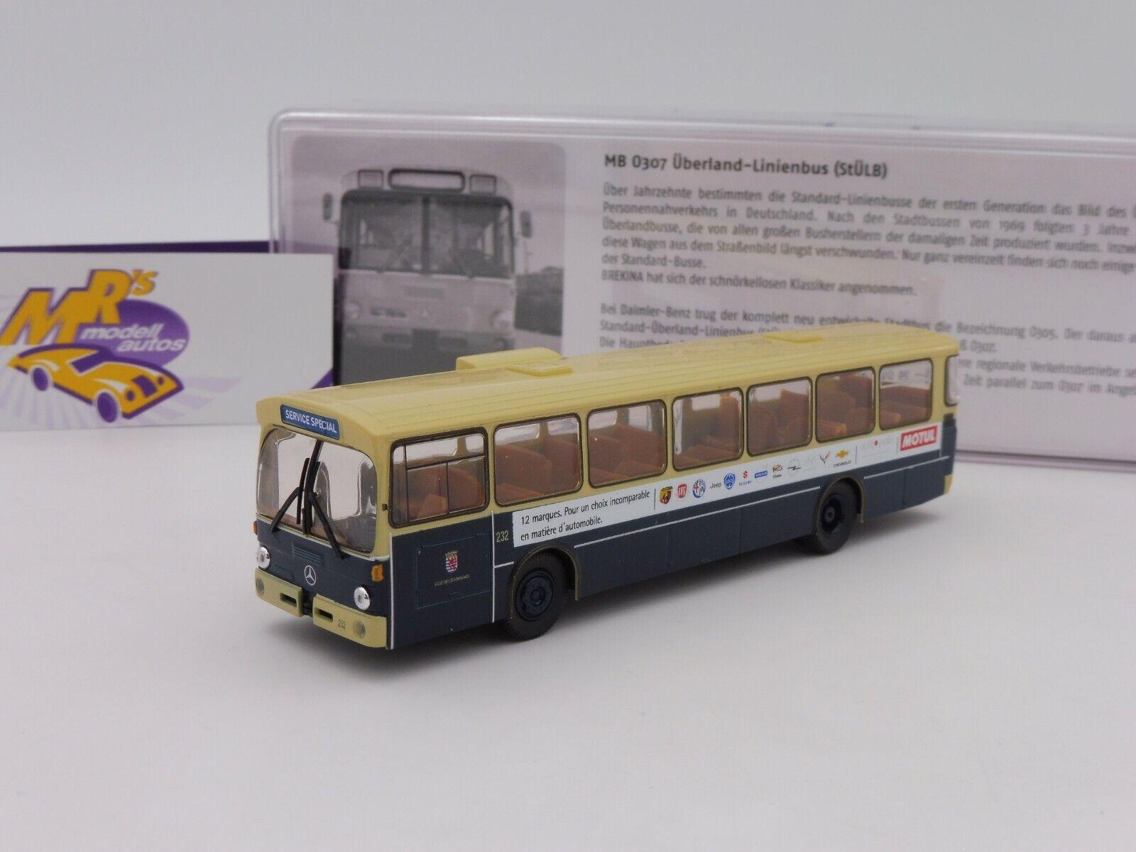Brekina 50775 Mercedes Benz O 305 Stadtbus     Luxemburg Museumsbus   1 87 NEU 5e54e1