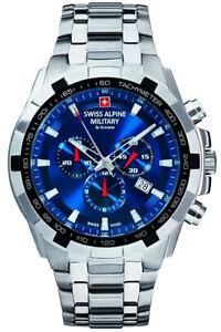 Swiss-Alpine-Military-By-Grovana-Mens-Wrist-Band-Watch-Chrono-7043-9135-Date-New