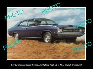 OLD-POSTCARD-SIZE-PHOTO-OF-1972-FORD-FAIRMONT-XA-GS-LAUNCH-PRESS-PHOTO