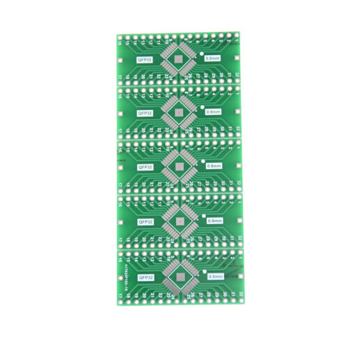 5Pcs TQFP//LQFP//EQFP//QFP32 0.8mm to DIP32 Adapter PCB Board Converter Sa