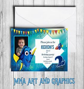Dory Disney invitations Personalized finding dory invites birthday