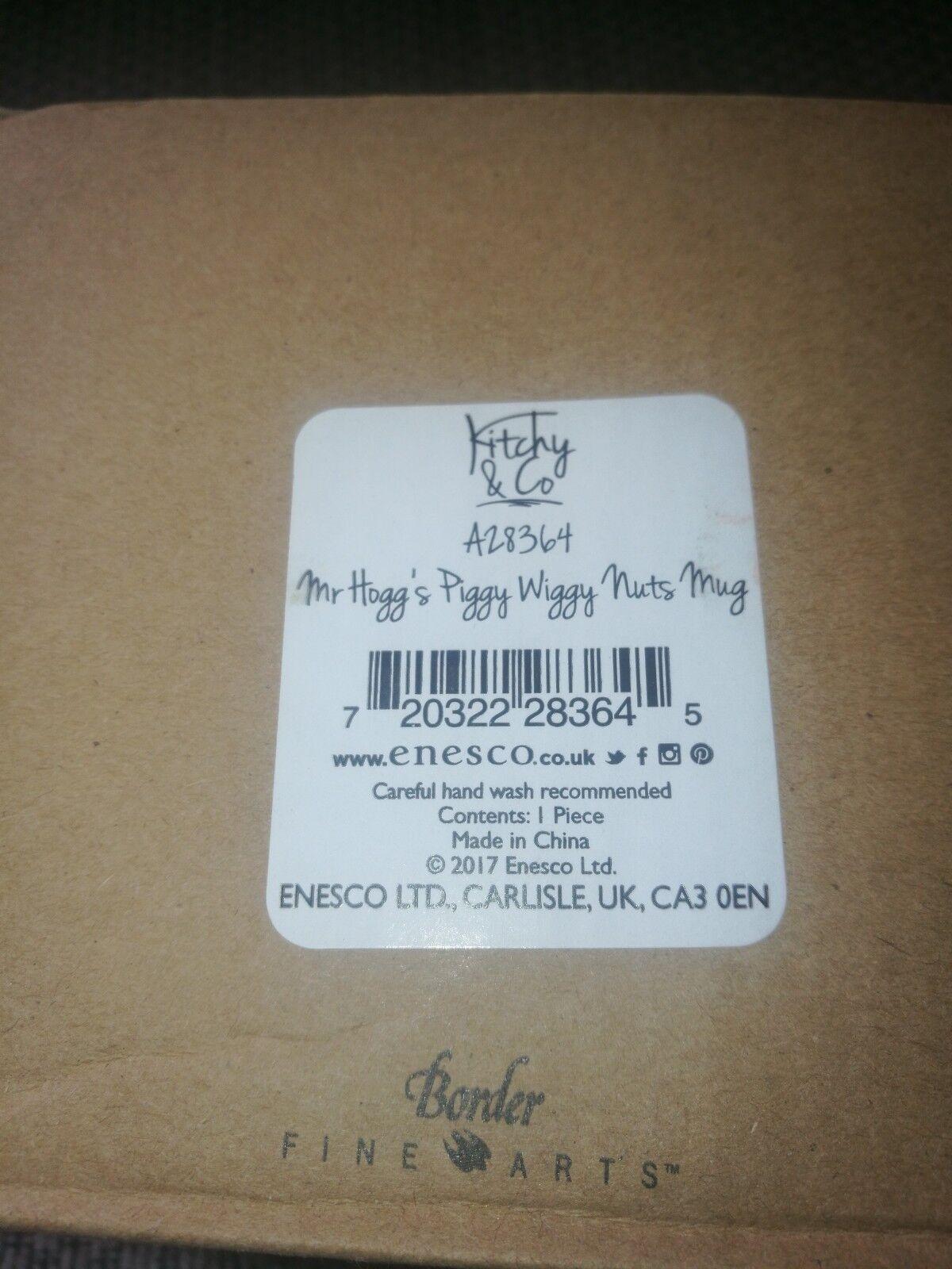 Border Fine Arts Kitchy /& Co Mr Hoggs Piggy Wiggy Nuts Ceramic Mug 9.5cm A28364