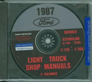1976 Ford Truck Shop Manual CD Pickup Bronco Econoline F100-F350 Service Repair