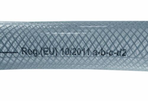 PVC Transparente Manguera Trenzada-Grado Alimenticio-aceite//agua//gases Reforzado Tubo Tubo