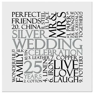 Silver 25th wedding anniversary invite invitation 10 pack uk free image is loading silver 25th wedding anniversary invite invitation 10 pack stopboris Gallery