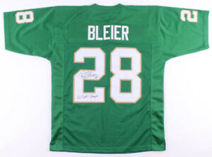 Details about Rocky Bleier Signed Notre Dame Fighting Irish Jersey Inscribed