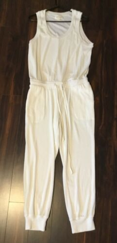 Cloth & Stone Jumpsuit Terry Cloth White Sleeveles